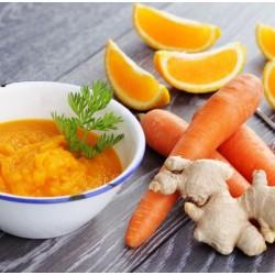 Potage aux carottes et à l'orange