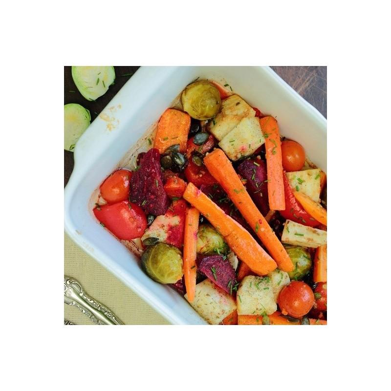 Rutabaga et légumes rôtis au balsamique
