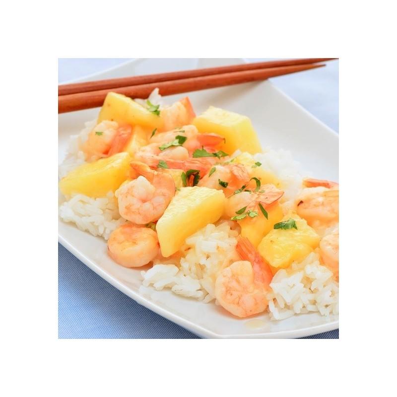 Salade ananas, riz & crevettes