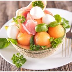 Salade melon féta jambon