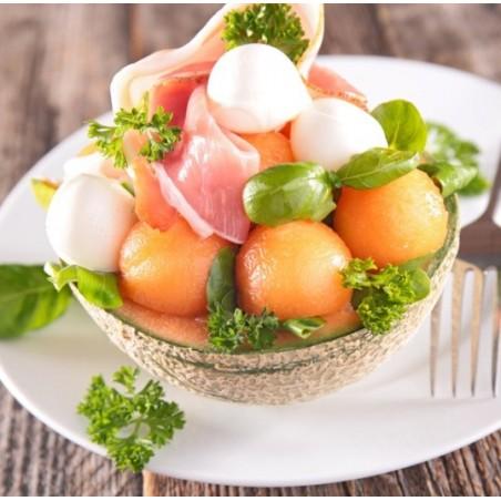 Salade melon, féta & jambon