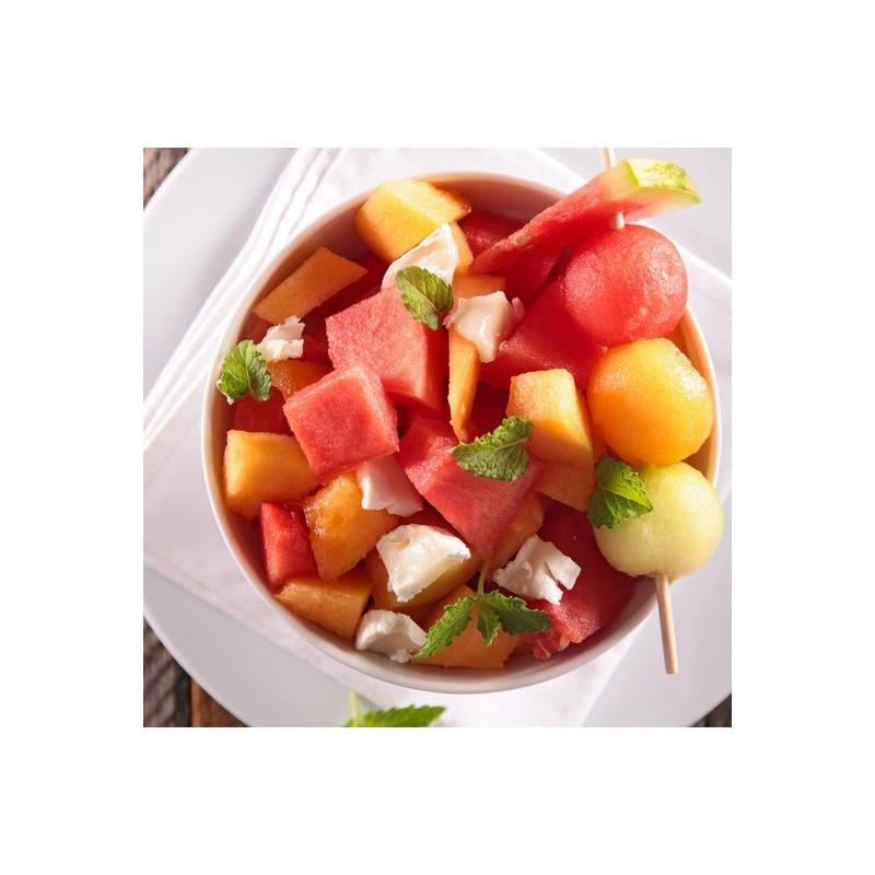Salade melon pastèque balsamique