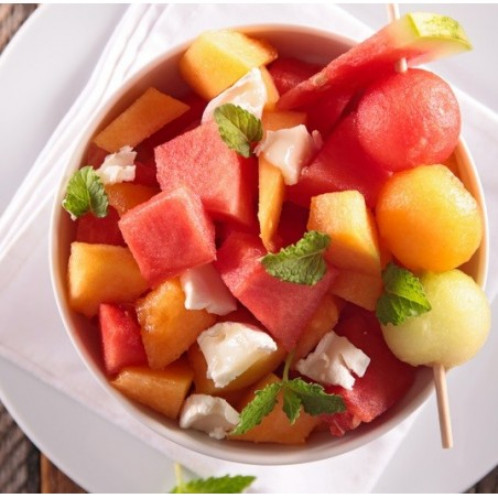 Salade melon & pastèque au balsamique
