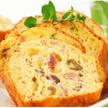 Cake au jambon et cornichons