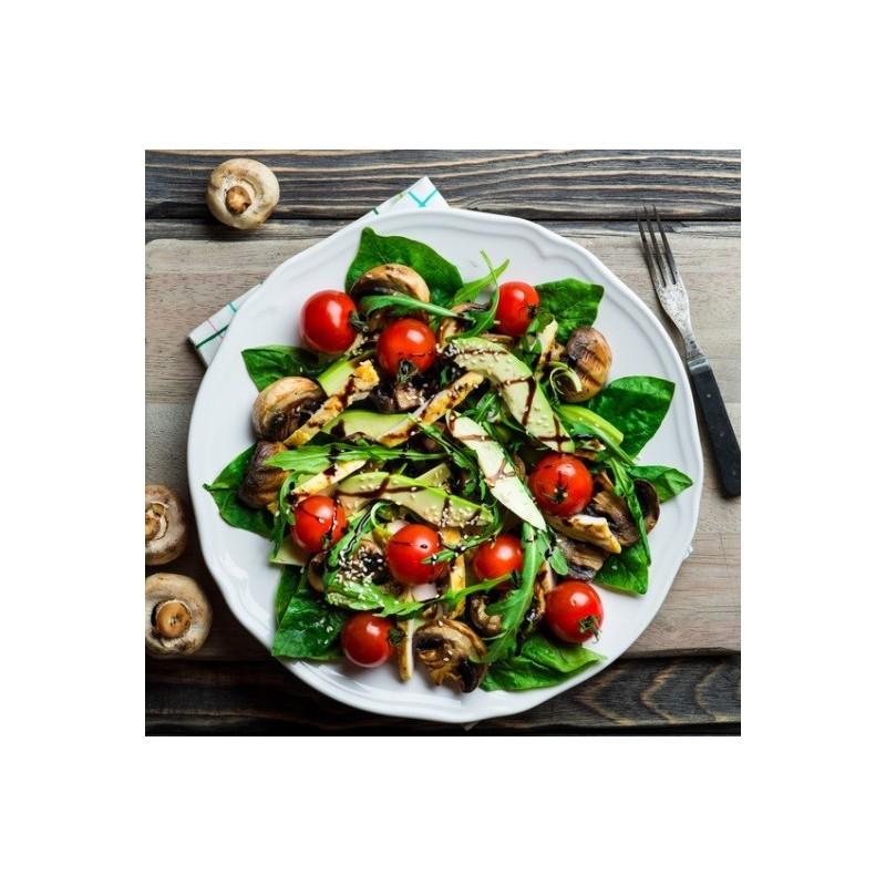 Salade épinards et poulet au balsamique