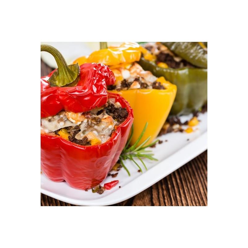 Poivrons farçis à l'aubergine