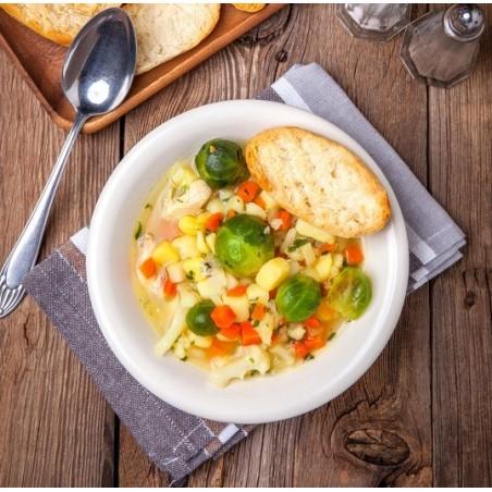 Soupe minestrone aux choux de Bruxelles