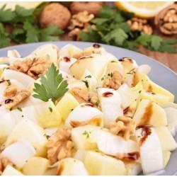 Salade endive pomme noix