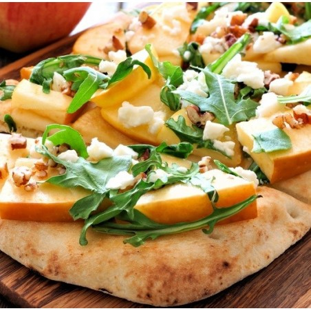 Tartines de pommes, féta & noix sur pain pita