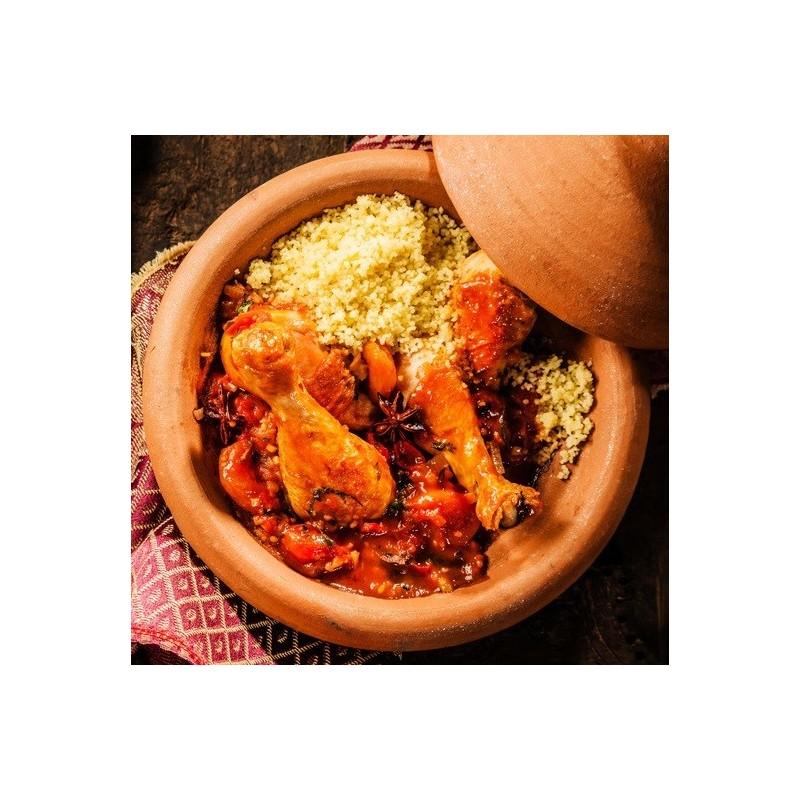 Tajine de poulet à la rhubarbe