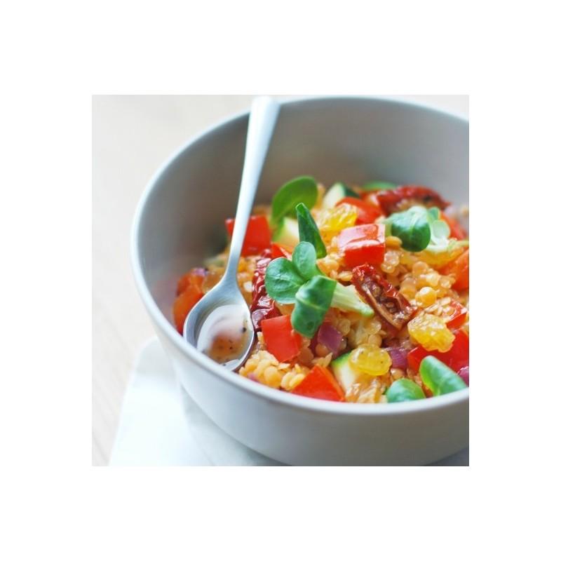 Lentilles corail et ses légumes colorés