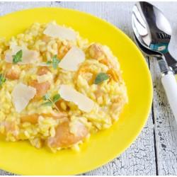 Abricots en risotto au lait d'amande