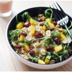 Salade de boulgour fondante et croquant de fruits secs