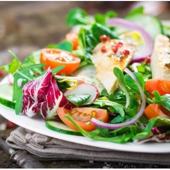 Salade poulet et fruit de la passion