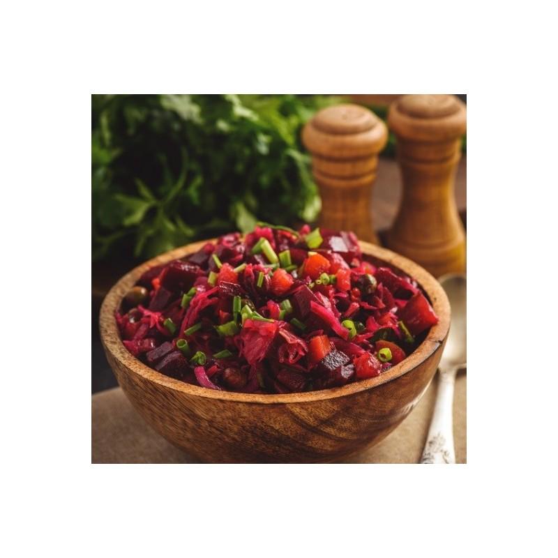 Salade de betterave et échalotes