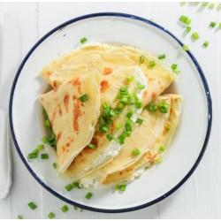 Crêpes farcies au fromage frais et ciboulette