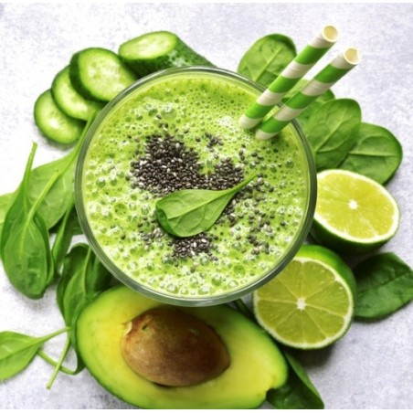 Green smoothie aux graines de chia