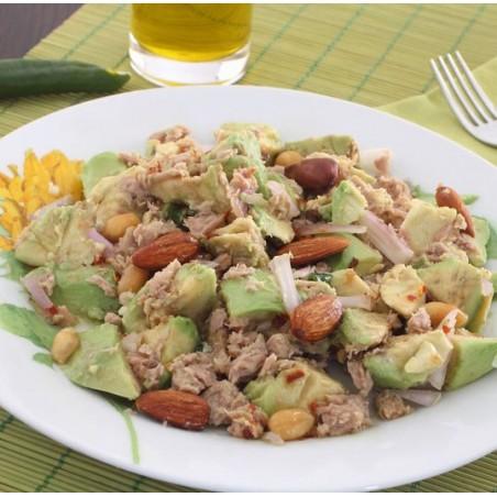 Salade kiwi, thon et avocat