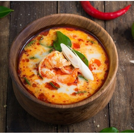 Tom Yam Kung - soupe thaïlandaise aux crevettes et noix de coco