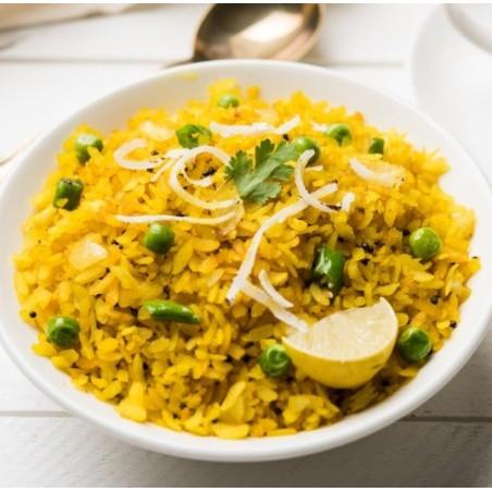 Poha : riz indien et noix de coco