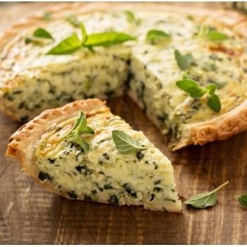 Quiche fromagère au cresson