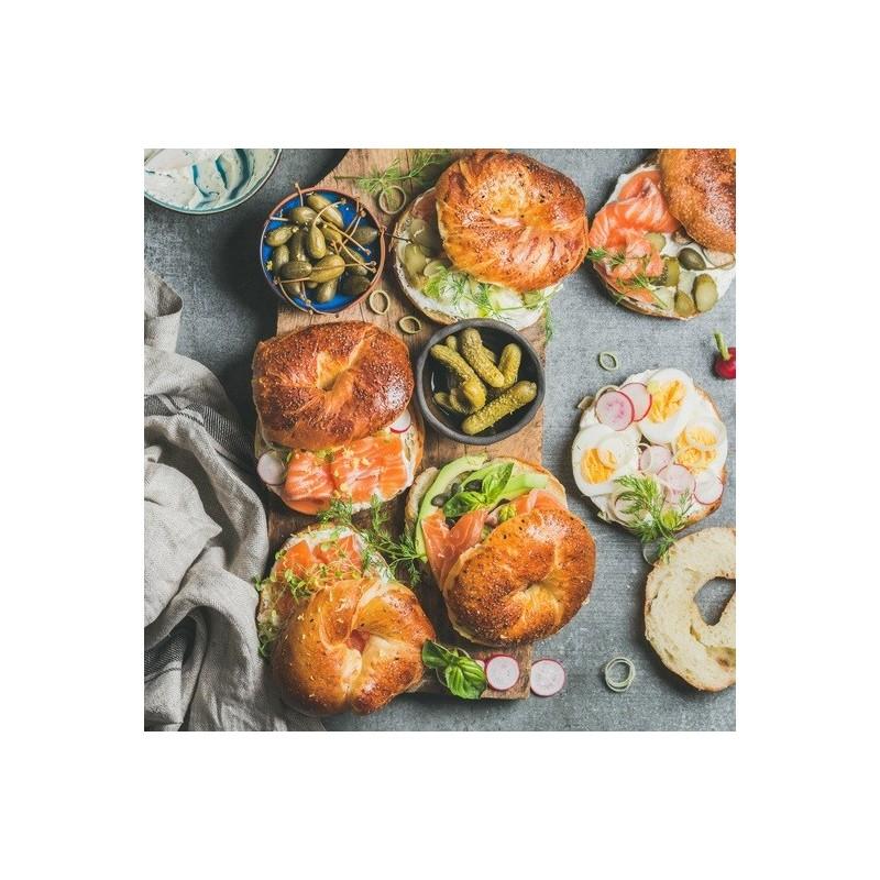 Bagels fraîcheur au cresson et saumon fumé