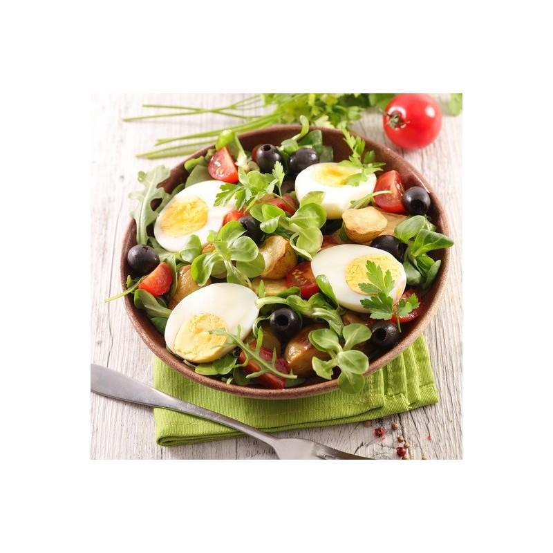 Salade de cresson, pommes de terre et oeufs durs