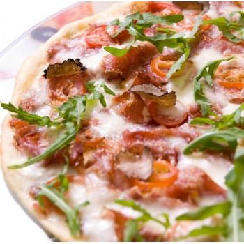 Pizza faite maison à la truffe