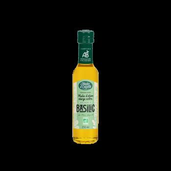 Huile d'olive Bio vierge extra saveur Basilic 25cl