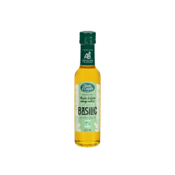 Huile d'olive Bio vierge extra saveur Basilic 25cl