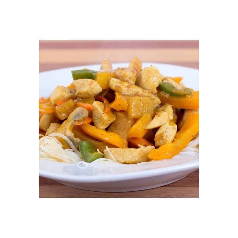 pates au poulet curry mandarine a mangue