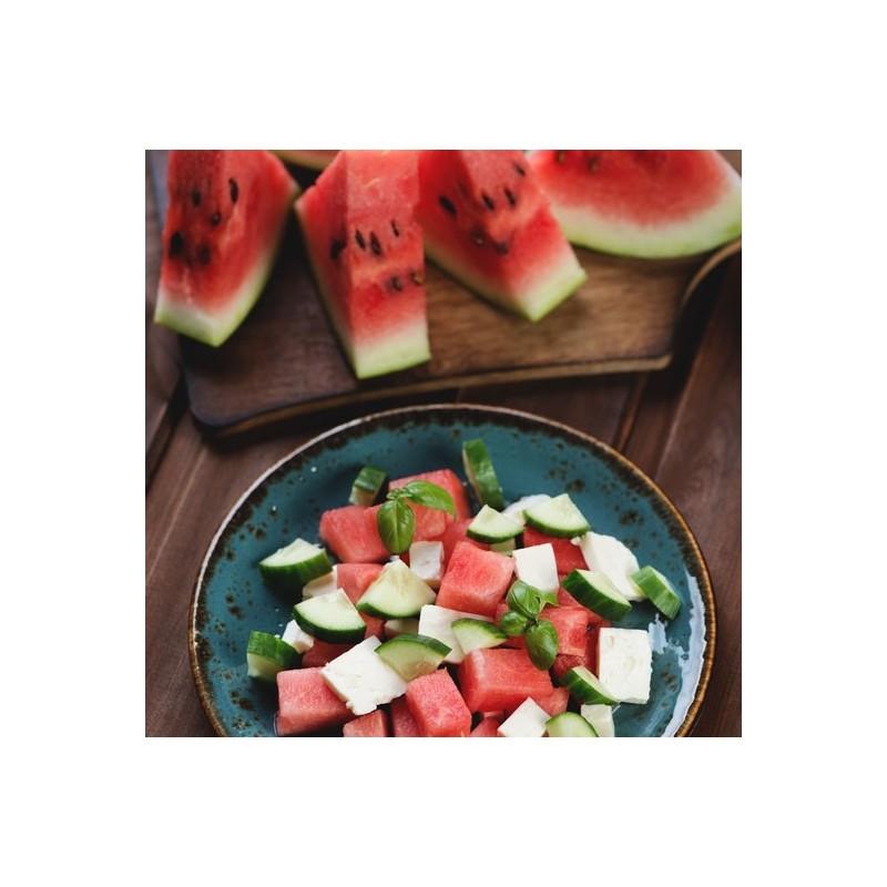 Salade de pastèque, feta et basilic
