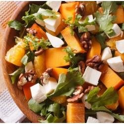 Salade composée au kaki