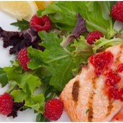 Pavés de saumon aux framboises