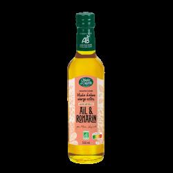 Huile d'olive Bio vierge extra saveur Ail et Romarin Jardin d'Orante