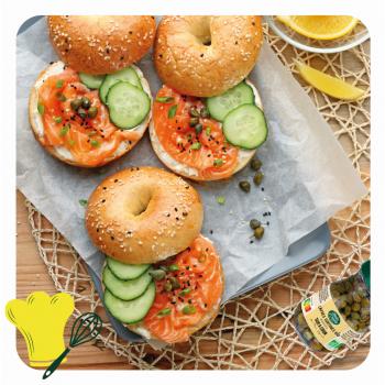 bagel saumon câpres jardin d'orante